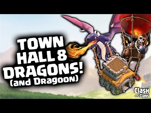 Town Hall 8 Attack Strategy in Clash of Clans - Dragon & Balloon Three Stars!