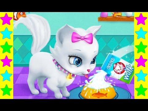 Играем с белой кошечкой Китти! Мультфильмы про кошек для детей. Развивающие детские мультики.