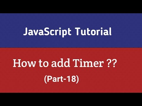 Javascript Tutorial In Hindi | Set Timer Using Javascript (Part-18) thumbnail