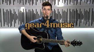 greg bennett d-4ce electro acoustic guitar
