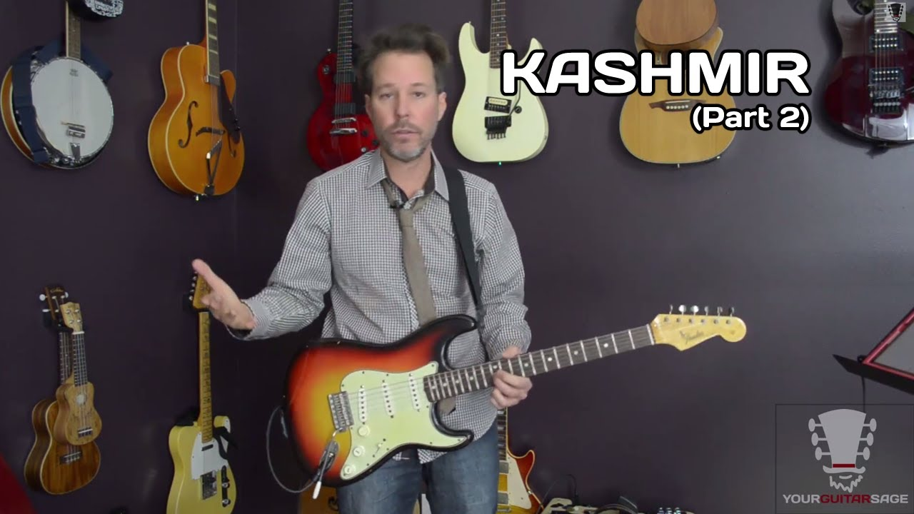 how to play kashmir by led zeppelin on guitar