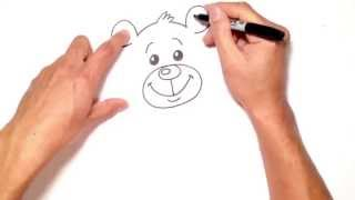 How to Draw a Cartoon Bear with Heart from Cartooning For Kids | C4K