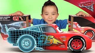 Disney•Pixar Cars 3 Tech Touch Lightning McQueen Toy Unboxing Fun With Ckn Toys