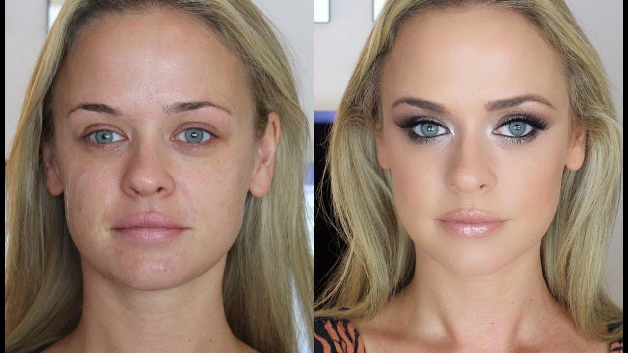 smokey eye makeup tutorial: brown & blue eyes.