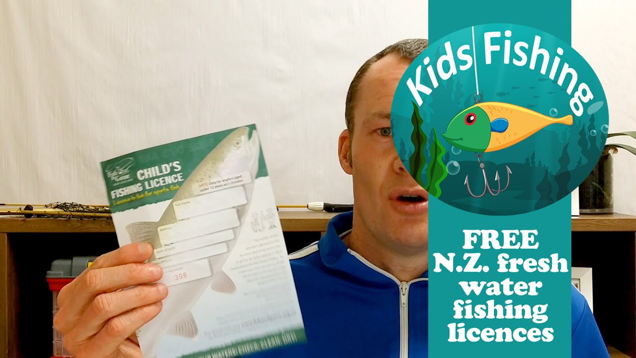 Free nz fresh water fishing licenses kids fishing youtube for Free fishing license
