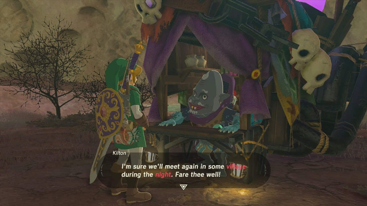 Breath Of The Wild Dark Link >> BotW How to Find Kilton and Open his Monster Shop - YouTube