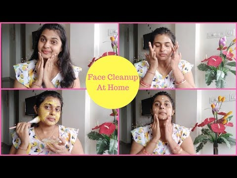 Salon Style Face Cleanup At Home|Face cleanup using Natural products|Get Bright And Glowing Skin