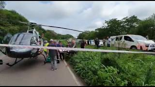 WATCH: One confirmed dead as helicopters lift casualties from M7 accident scene.