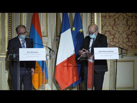 Նախարար Այվազյանի խոսքը և պատասխանը լրագրողի հարցին Ֆրանսիայի ԱԳ նախարարի հետ մամուլի ասուլիսին