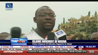 Islamic Movement Of Nigeria: Police Disperse El-Zakzaky Supporters In Abuja