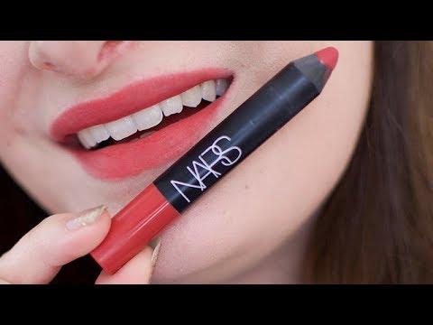 Nars Velvet Matte Lip Pencil Dolce Vita Wear Test Review ...  Nars Velvet Mat...