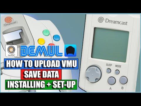 How To Upload VMU Saved Data For Sega Dreamcast -ReDream - DEMUL - NullDC