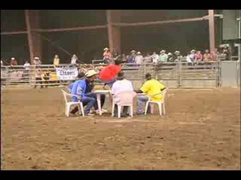 Bull Attacks Cowboy Poker Game!!!