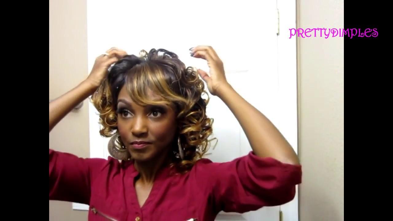 Roller set wig - YouTube 6ccc0ec377bc