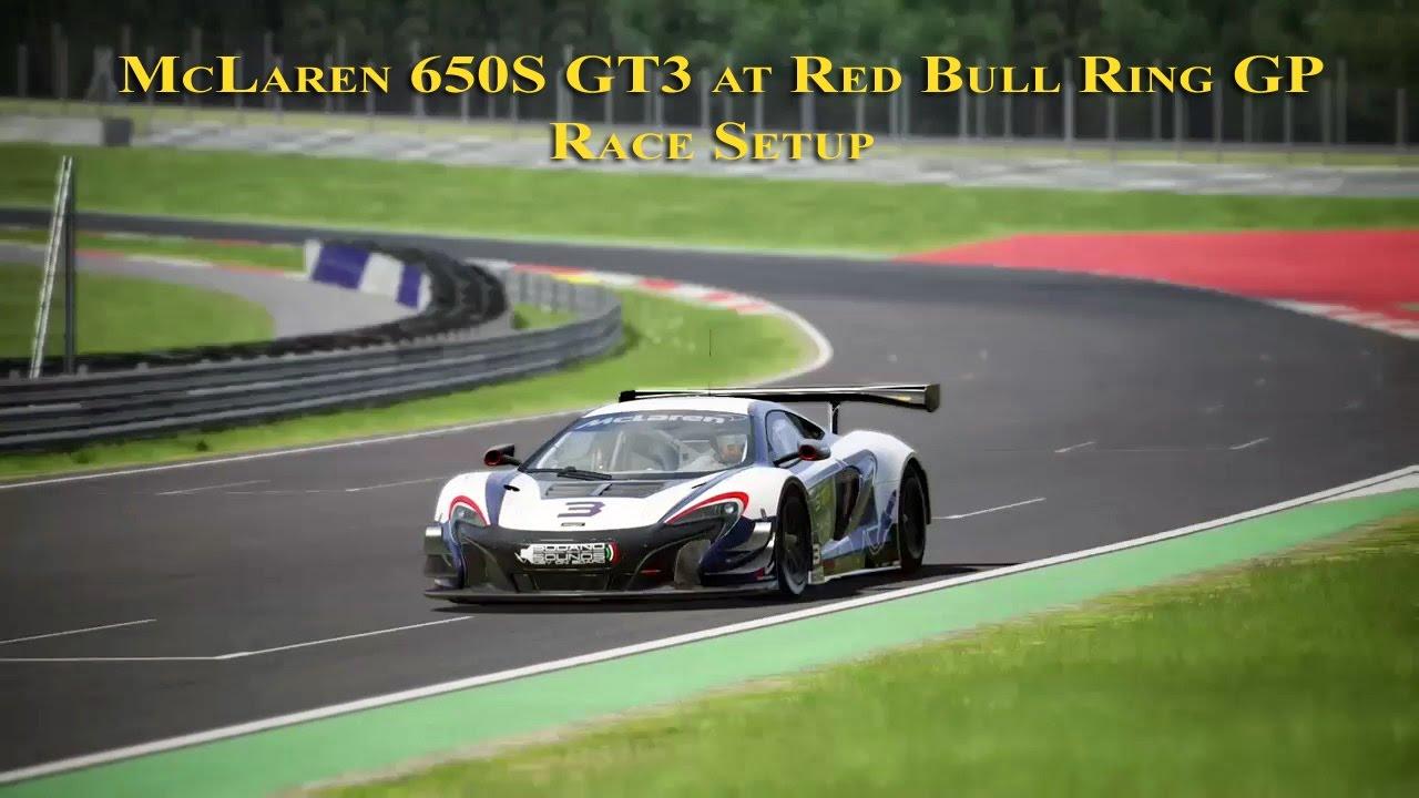 assetto corsa: race setup (mclaren 650s gt3 @ red bull ring gp +