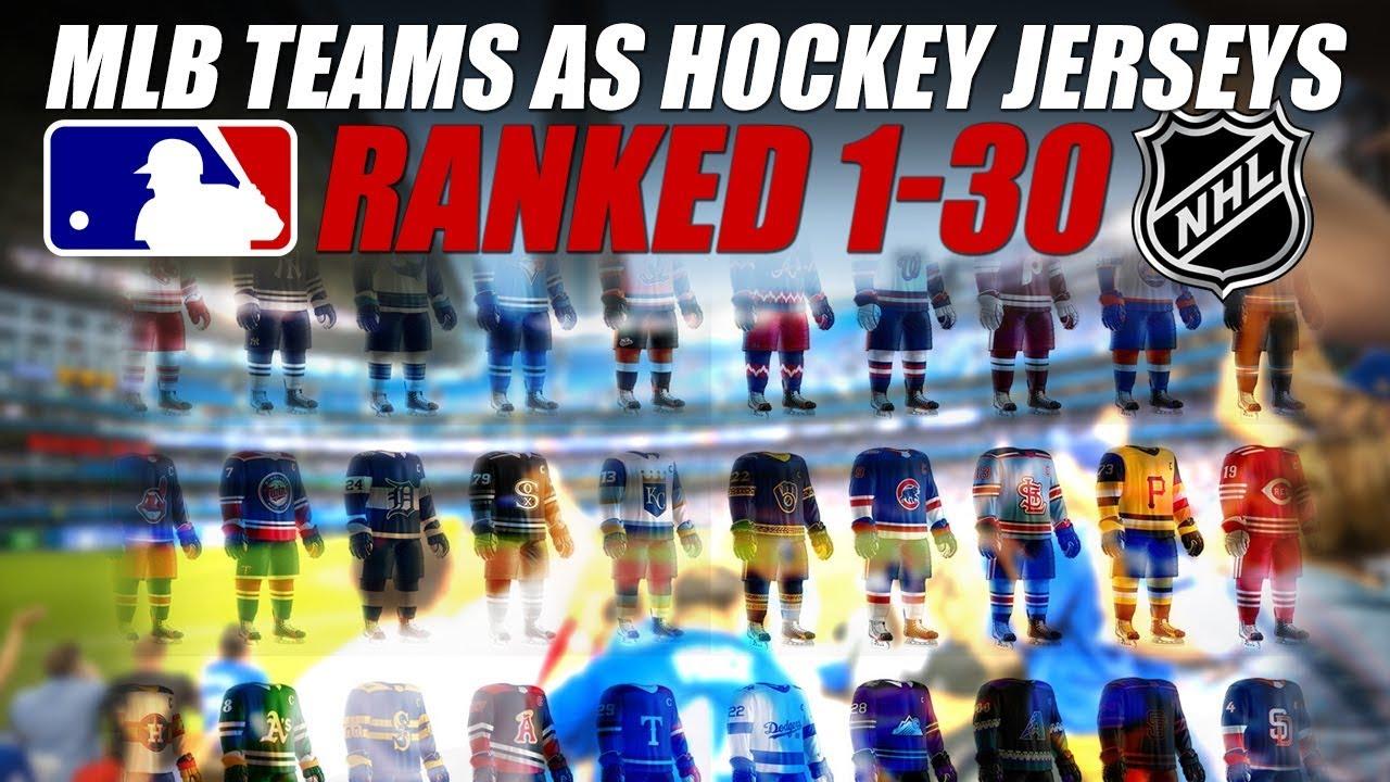 MLB Teams as Hockey Jerseys Ranked 1-30! - YouTube 3a0b4ba6a