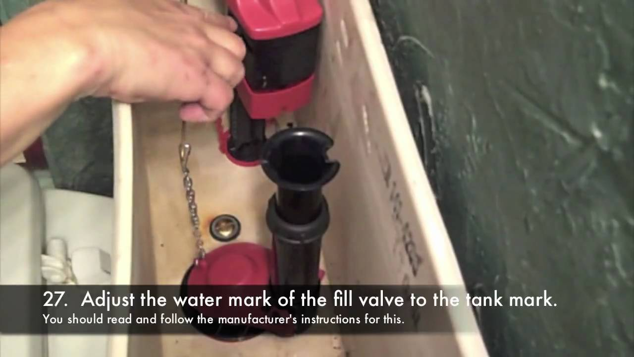 replacing toilet tank parts.  How to Fix a Toilet Complete Repair YouTube