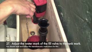 how to fix overflowing toilet tank