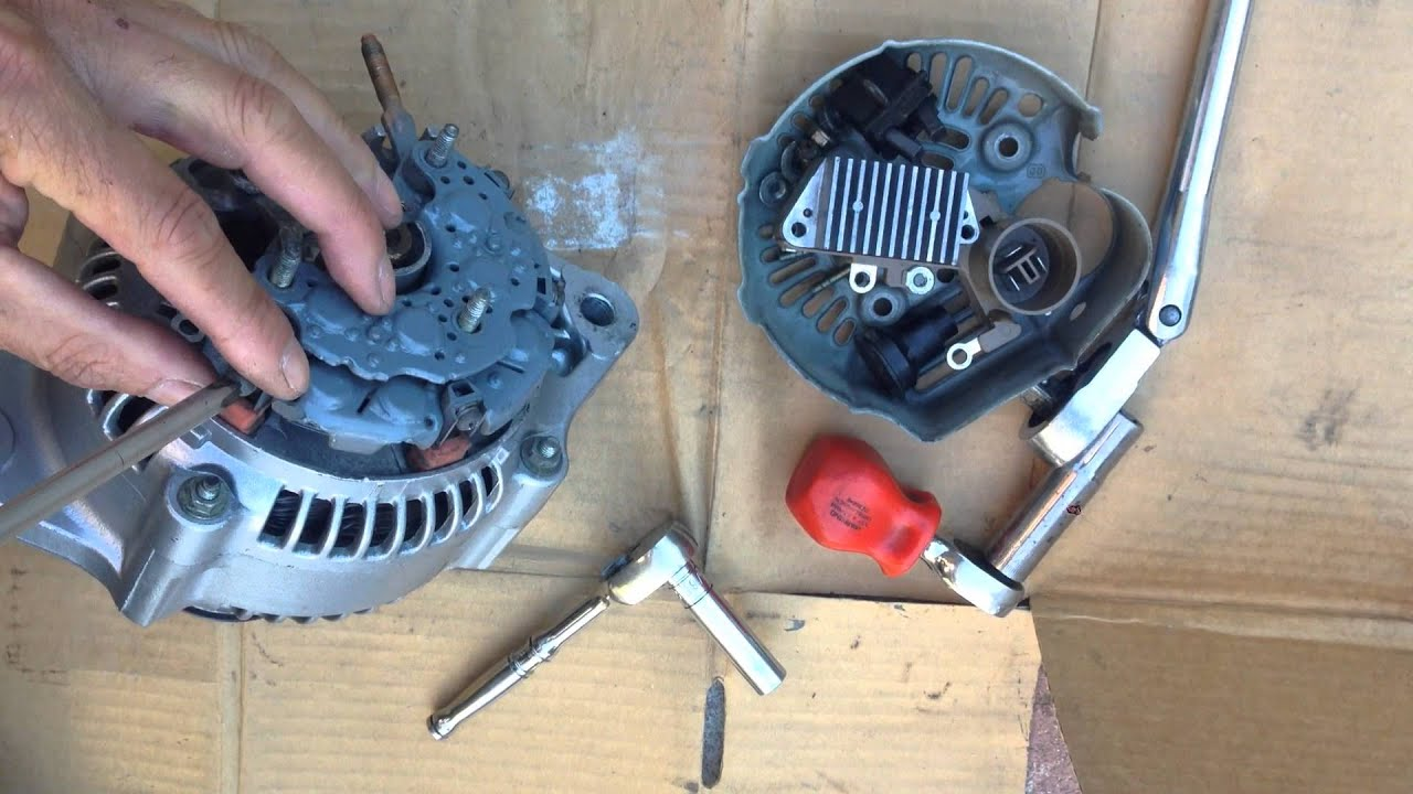 HOW TO REPLACE VOLTAGE REGULATOR BRUSH ALTERNATOR TOYOTA TRUCK CAMRY COROLLA CELICA MR2  YouTube