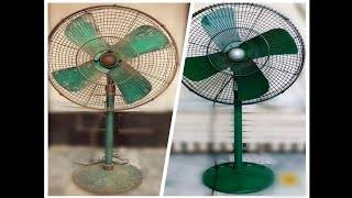 Standing Fan Restoration | How to Repair Fan | Clean electric fan at home