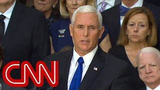 Pence speaks for Trump administration at McCain ceremony