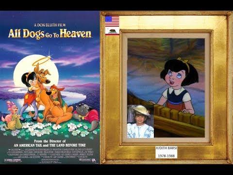 Judith Barsi 1978 1988 All Dogs Go To Heaven 1989 Youtube