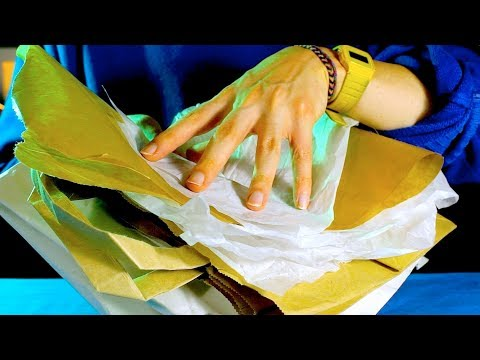 ASMR Extremely Crinkly Paper! / Varied Sounds! (Binaural)