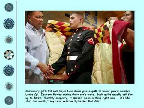 US Marines Lakota Indian Warrior Burial Ceremony