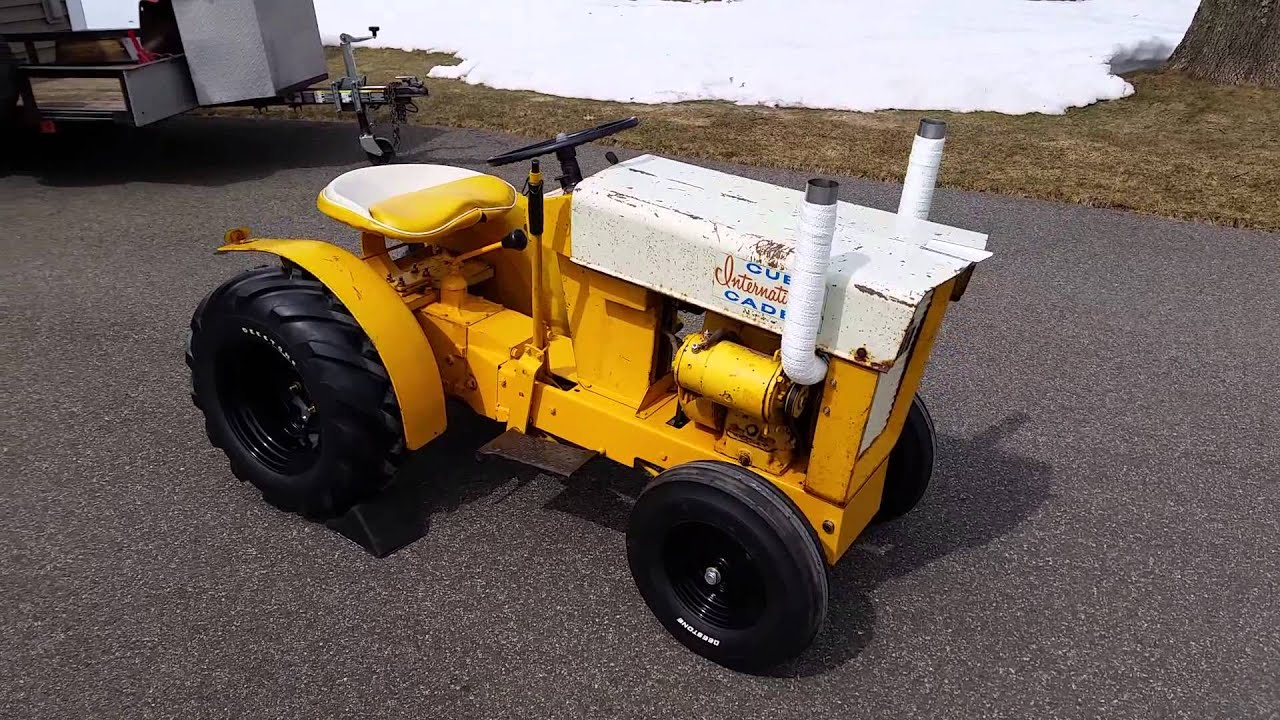 62 Cub Cadet Original Garden Tractor YouTube
