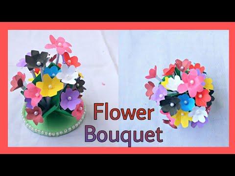 How to make Paper Flower bouquet🌺  Jenin Jafrin   Tutorial💁u200d♀️
