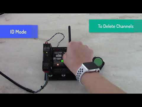 How to set up Omron A2W wireless pushbutton