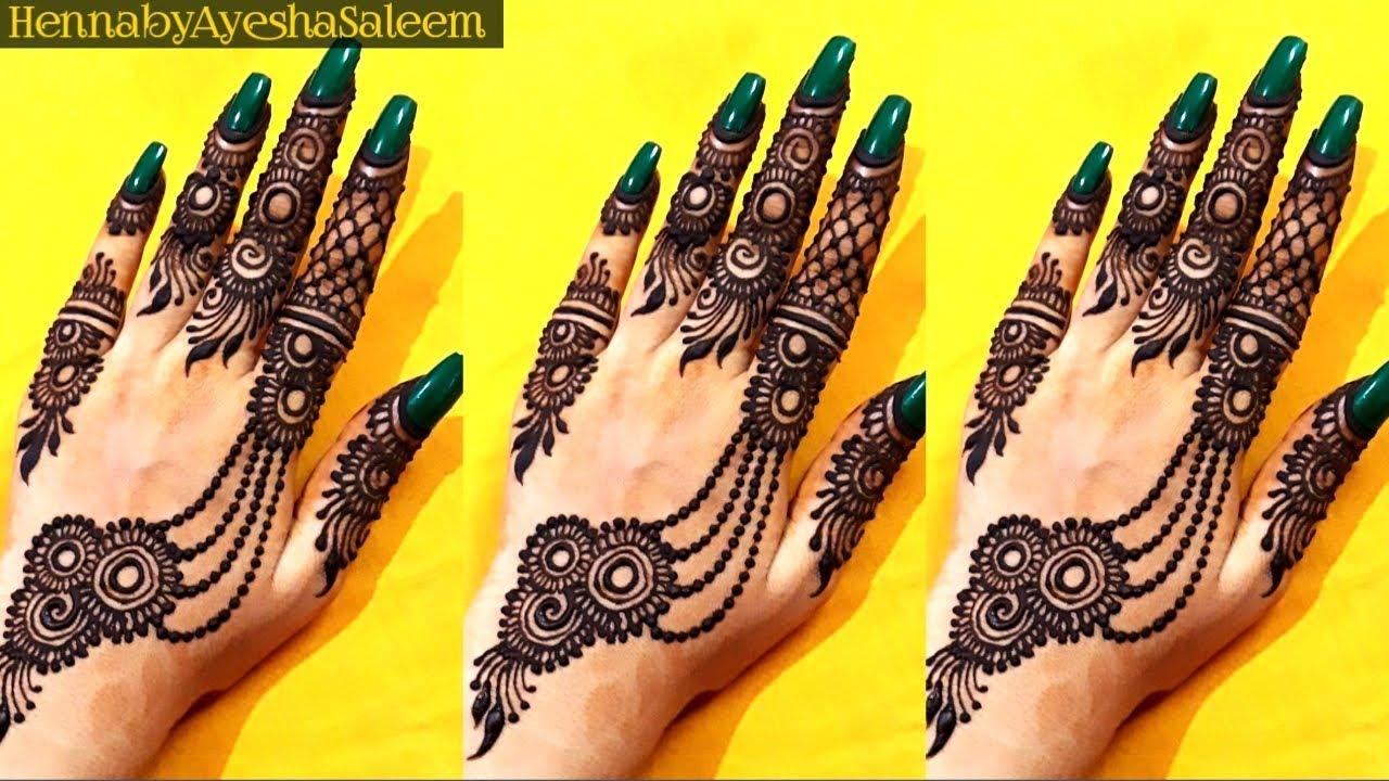 bel wali bel mehndi design front hand