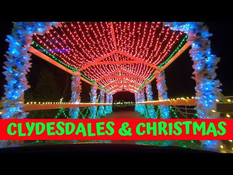 Holiday Lights Drive Thru at Warm Springs Ranch in Boonville, Missouri