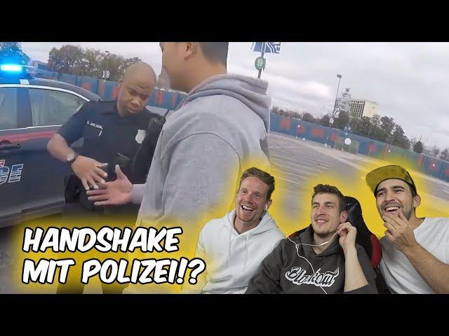 Handshake mit Polizei! - Crazy Biker Reaktion