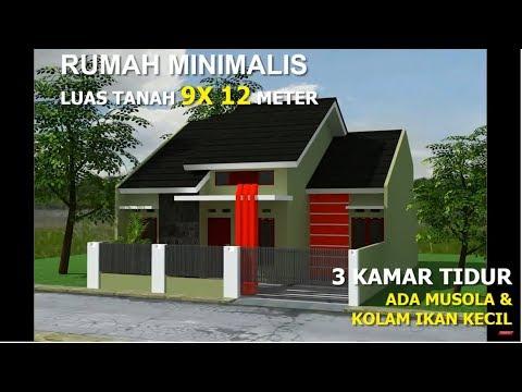 Rumah Minimalis 2 Lantai Ukuran 9x12  rumah minimalis dilahan 9x12 meter 3 kamar tidur youtube