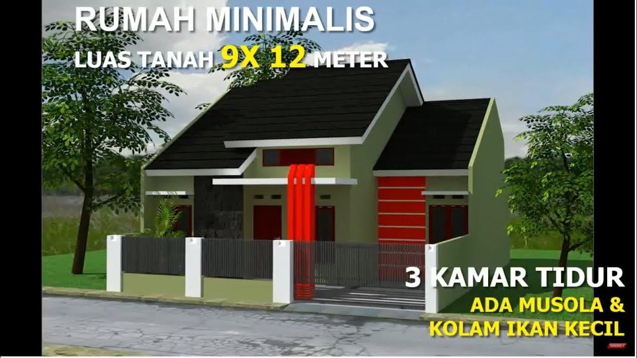 RUMAH MINIMALIS DILAHAN 9X12 METER 3 KAMAR TIDUR - YouTube