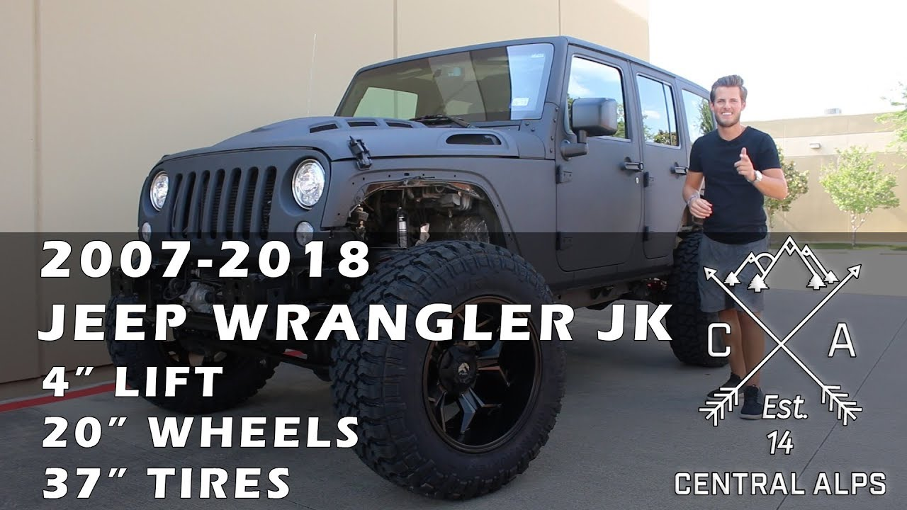 2007 2018 Jeep Wrangler Jk 4 Rbp Lift 20 Fuel Wheels 37 Fury With Tires Burn Out