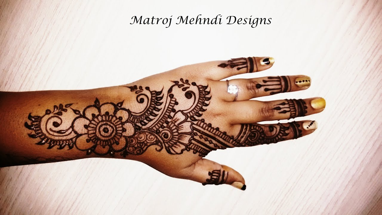 Simple Henna Designs: Mehndi Designs For Hands Easy 2016 Video-Easy Henna