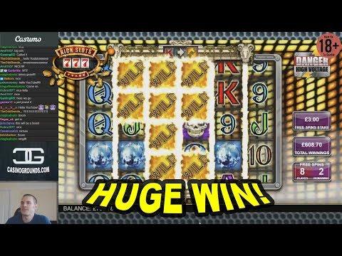HUGE WIN on Danger High Voltage Slot - £3 Bet