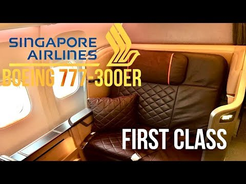 Singapore Airlines First Class Boeing 777-300ER Singapore to Hong Kong