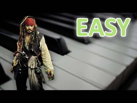EASY Pirates Of The Caribbean Theme Song Piano Tutorial