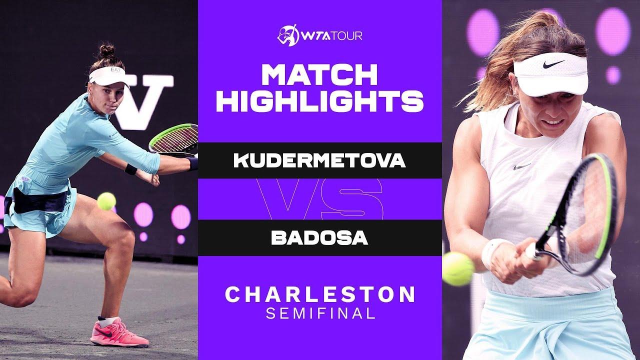 Paula Badosa vs. Veronika Kudermetova | 2021 Charleston Semifinal | WTA Match Highlights