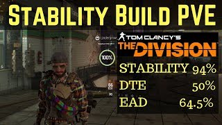 The Division Stability Build PVE!