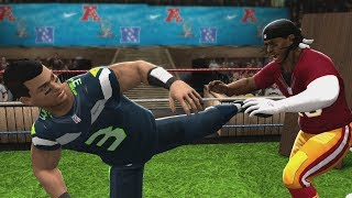 NFL Quarterback Extreme Rules Smackdown EP4 - Russell Wilson vs RG3: Tables Match (WWE 2K14)