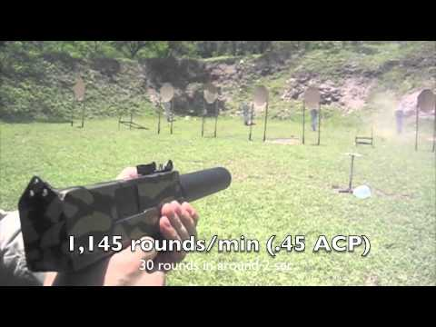Shooting a MAC-10 .45 ACP Full Auto Machine Pistol