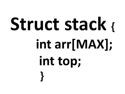 3.Programming Stack Data Structure in c using Structure.