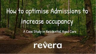 How to optimise aged care admissions to increase occupancy ratios