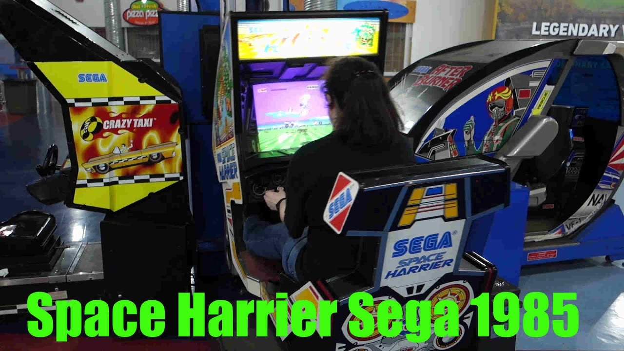 Watch me play Sega's Space Harrier Moving Cockpit Arcade Game from ...
