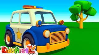 Leo's POLICE CAR - Kid's 3D Educational Construction Cartoons for Children (мультики на английском)