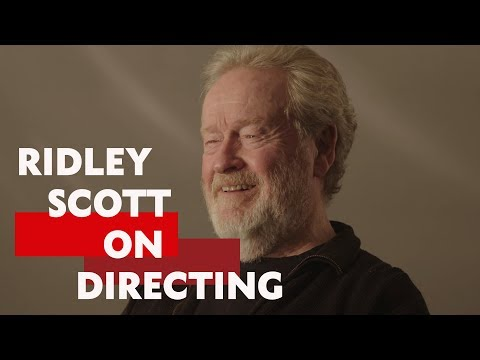 """""""There's no generic learning process""""   Ridley Scott on Directing"""